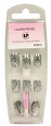 <b>LP Professional Airbrush Silver Leopard Print Nails - &#39;with glue&#39; (24 pieces)</b>